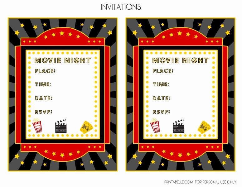 Printable Movie Ticket Invitation Inspirational Blank Movie Ticket Invitation Template Free Download Aashe