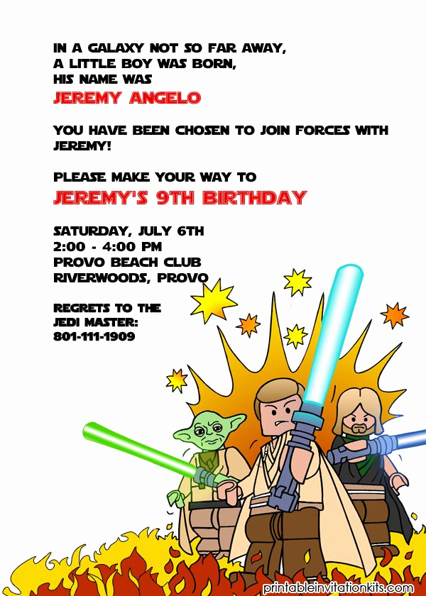 Printable Star Wars Invitation Elegant 1000 Images About Free Printable Birthday Party