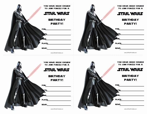 Printable Star Wars Invitation Inspirational Star Wars Birthday Invitations Printable Free …