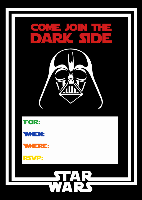 Printable Star Wars Invitation Template Best Of Free Star Wars Party Printables A No Stress Way to A