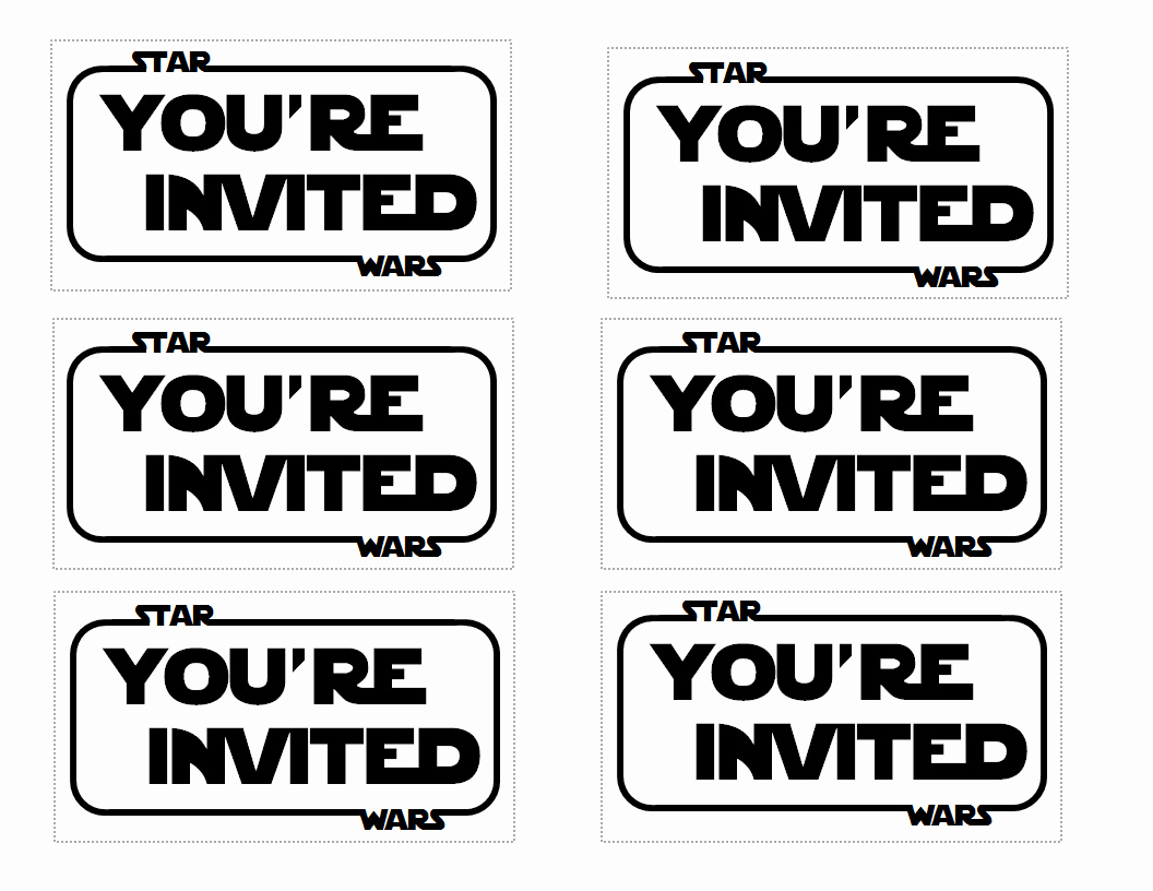 Printable Star Wars Invitation Template Elegant Free Star Wars Invitation Templates