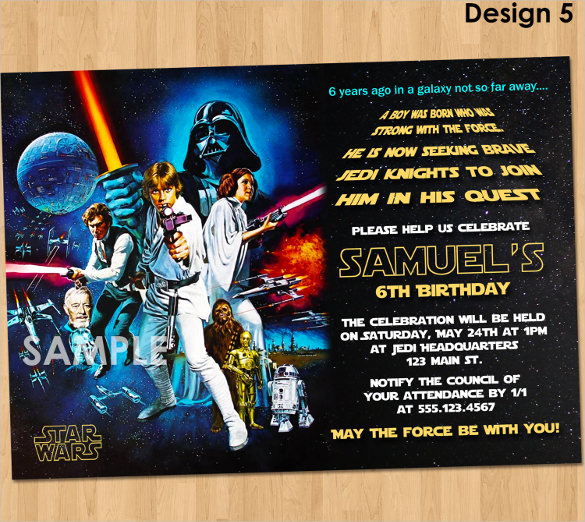Printable Star Wars Invitation Template Fresh 20 Star Wars Birthday Invitation Template Word Psd