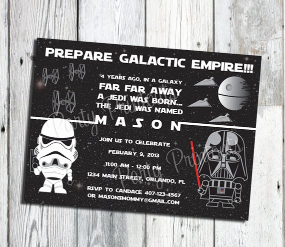 Printable Star Wars Invitation Template Fresh Star Wars Invitation Printable Star Wars Party Invitations
