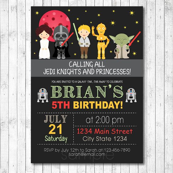 Printable Star Wars Invitation Template Inspirational Free Star Wars Birthday Invitations – Bagvania Free