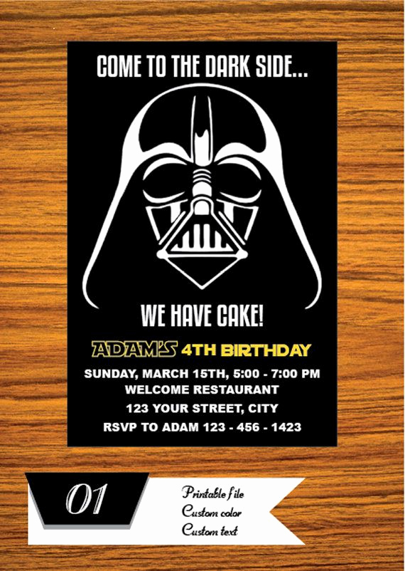 Printable Star Wars Invitation Template Lovely Best 25 Star Wars Invitations Ideas On Pinterest