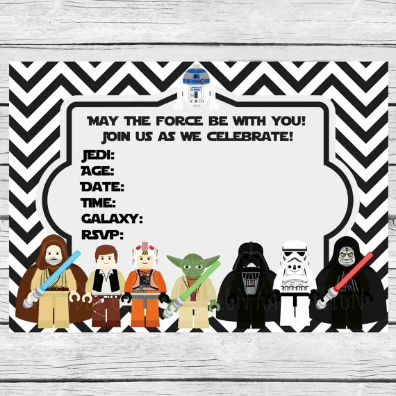 Printable Star Wars Invitation Template New 35 Best Images About Fiesta Star Wars Star Wars Party
