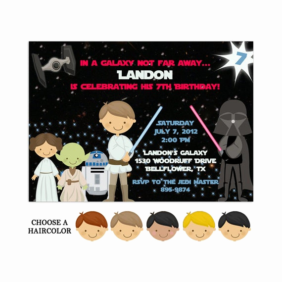 Printable Star Wars Invitation Template New Printable Star Wars Invitations Star Wars Party Template