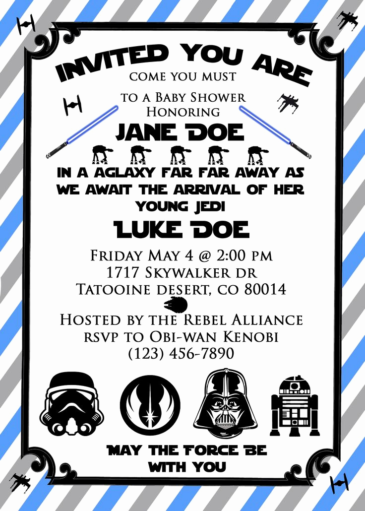 Printable Star Wars Invitation Template Unique 17 Best Ideas About Star Wars Invitations On Pinterest