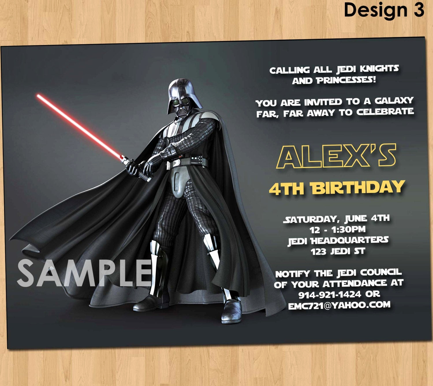 star wars invitation star wars party