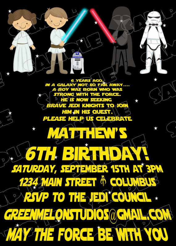 Printable Star Wars Invitation Unique Free Printable Star Wars Birthday Invitations – Template