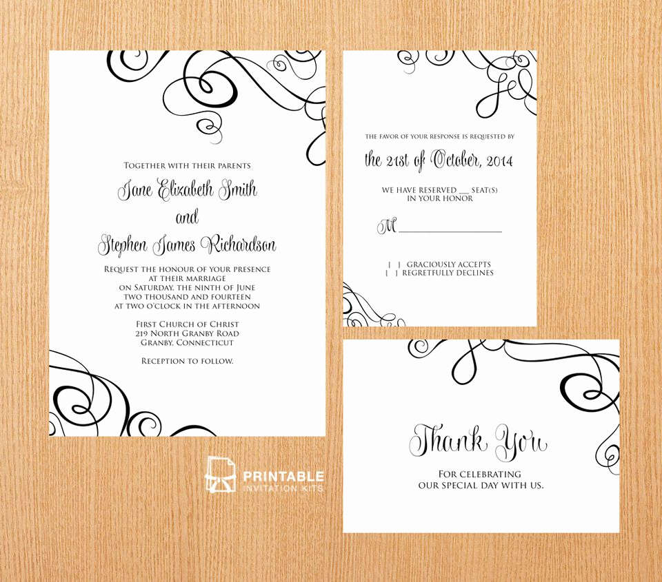 Printable Wedding Invitation Templates Elegant 22 Free Printable Wedding Invitations