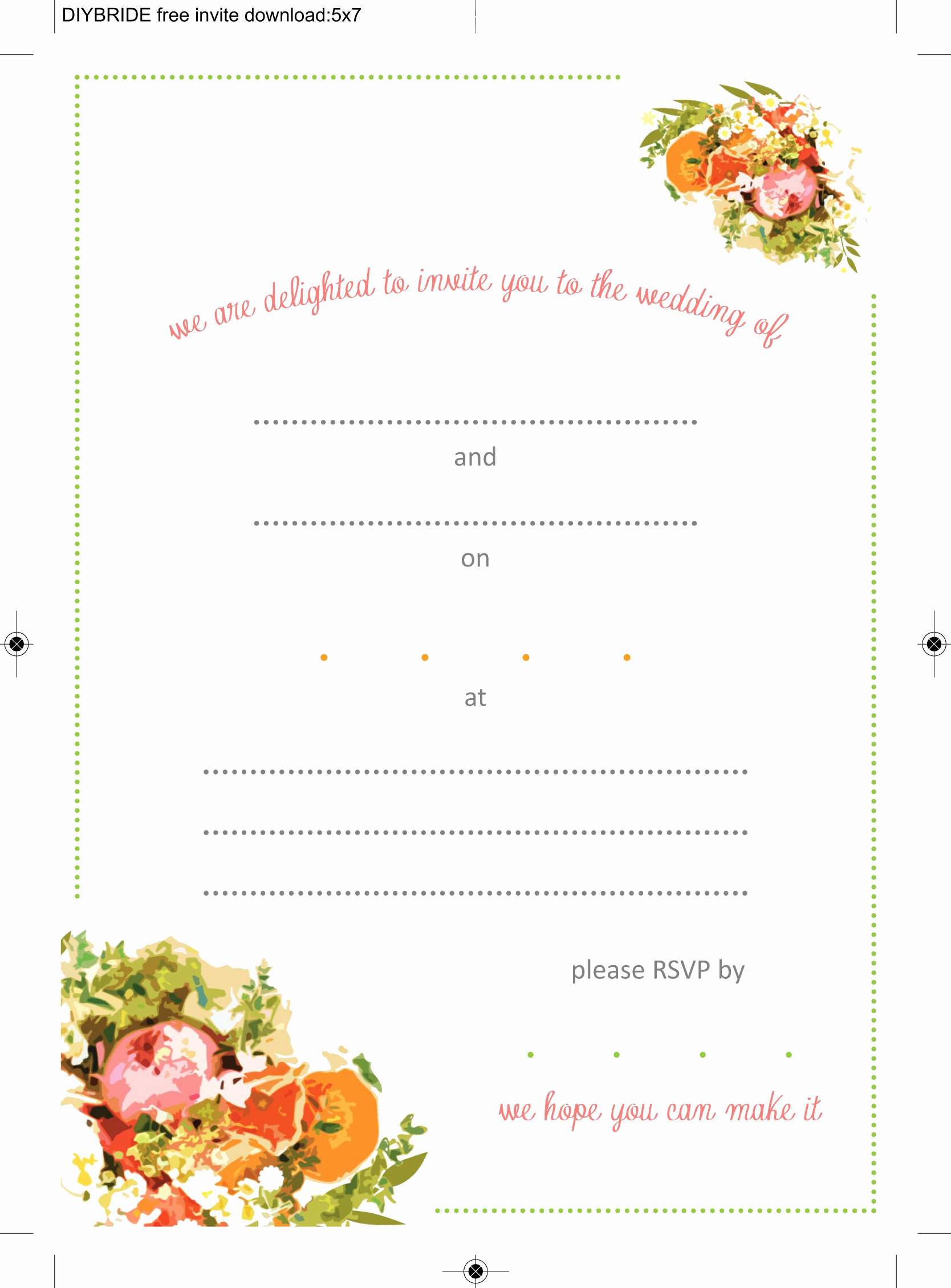 Printable Wedding Invitation Templates Elegant Wedding Invitation Templates that are Cute and Easy to