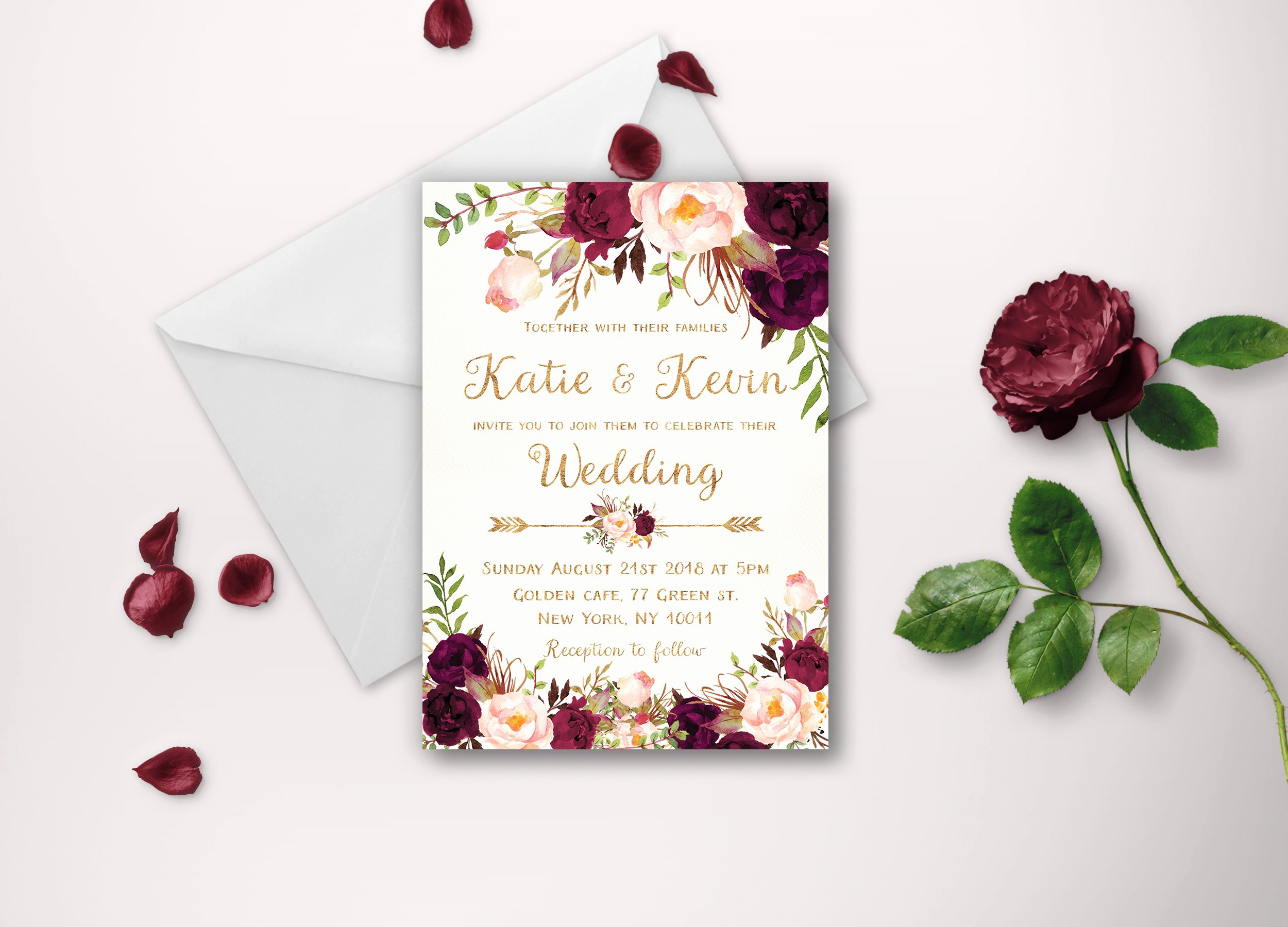 Printable Wedding Invitation Templates Inspirational Floral Wedding Invitation Template Wedding Invitation