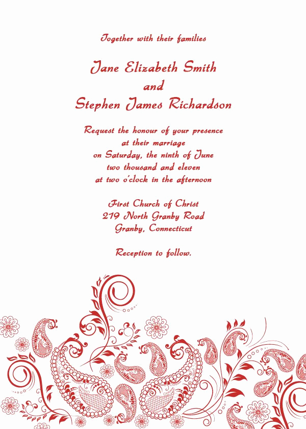 Printable Wedding Invitation Templates Lovely Free Printable Wedding Invitation Templates