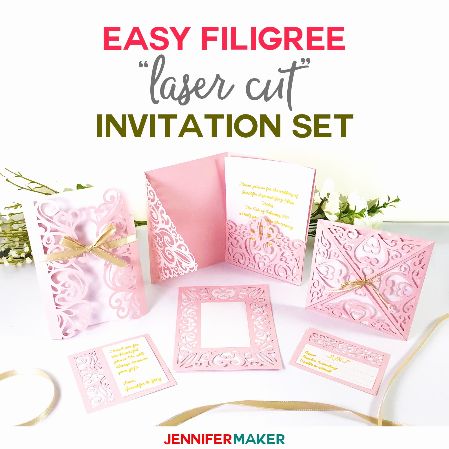 "Printable Wedding Invitation Templates New Diy Wedding Invitation Templates Free ""laser Cut"" Set"