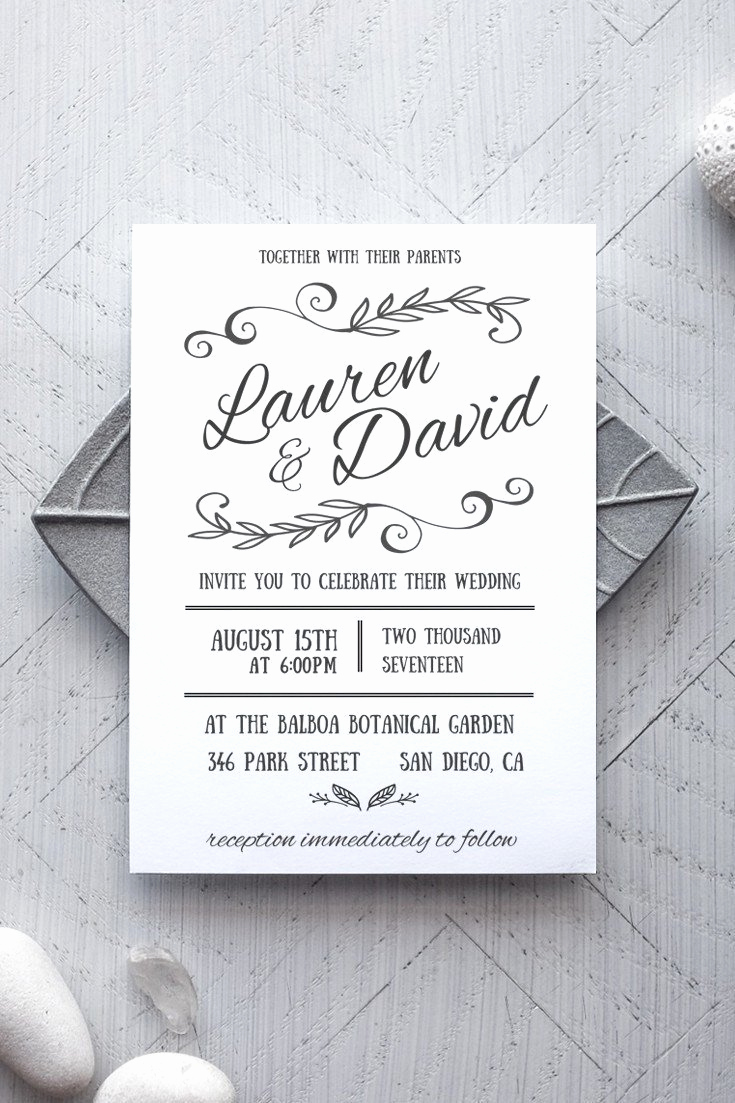Printable Wedding Invitation Templates New Printable Wedding Invitation Template Rustic Alchemie