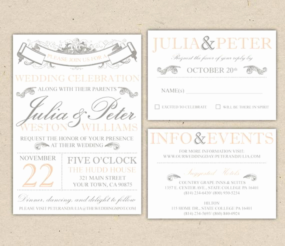 Printable Wedding Invitation Templates Unique Rustic Wedding Invitation Template Vintage Modern Printable