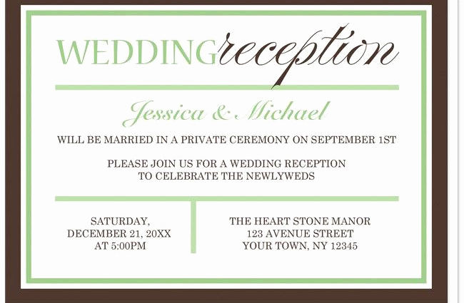 Private Wedding Ceremony Invitation Beautiful Wedding Reception Invitation Wording after Private Ceremony