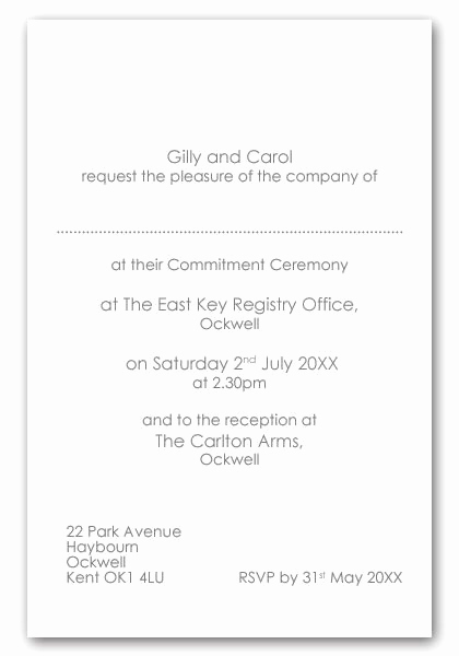 Private Wedding Ceremony Invitation Elegant Wedding Ceremony Invitation Wording Samples Cobypic