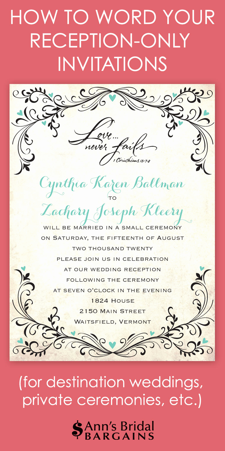 Private Wedding Ceremony Invitation Wording Awesome How to Word Your Reception Ly Invitations