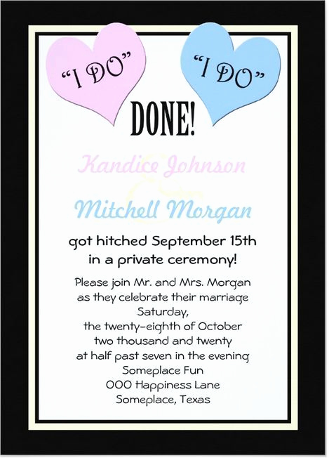 Private Wedding Ceremony Invitation Wording Beautiful 9 Best Post Reception Invitations Images On Pinterest