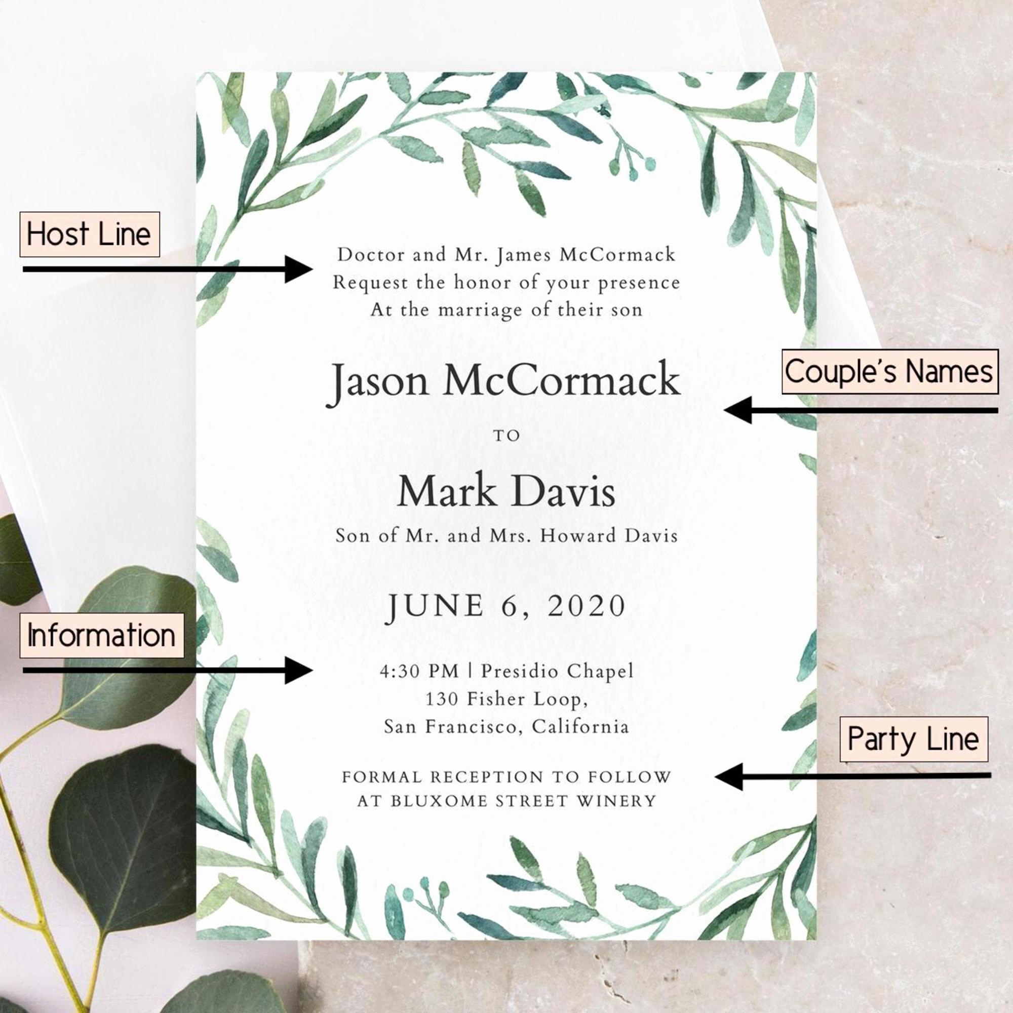 Private Wedding Ceremony Invitation Wording Lovely How to Word Wedding Invitations
