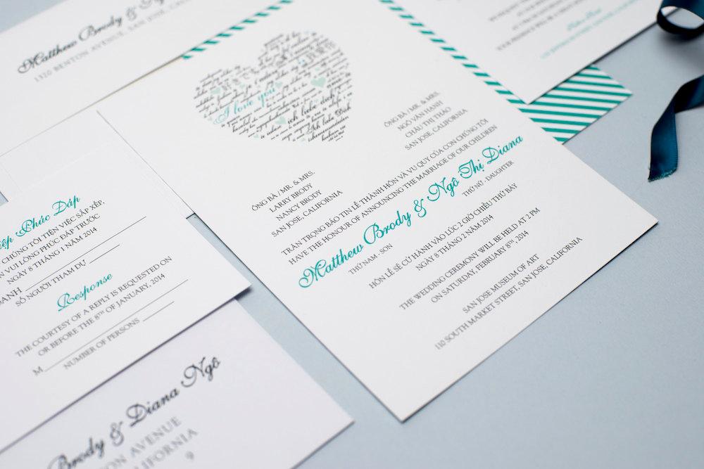 Proper Vietnamese Wedding Invitation format New Printable Bilingual Vietnamese Wedding Invitation Set