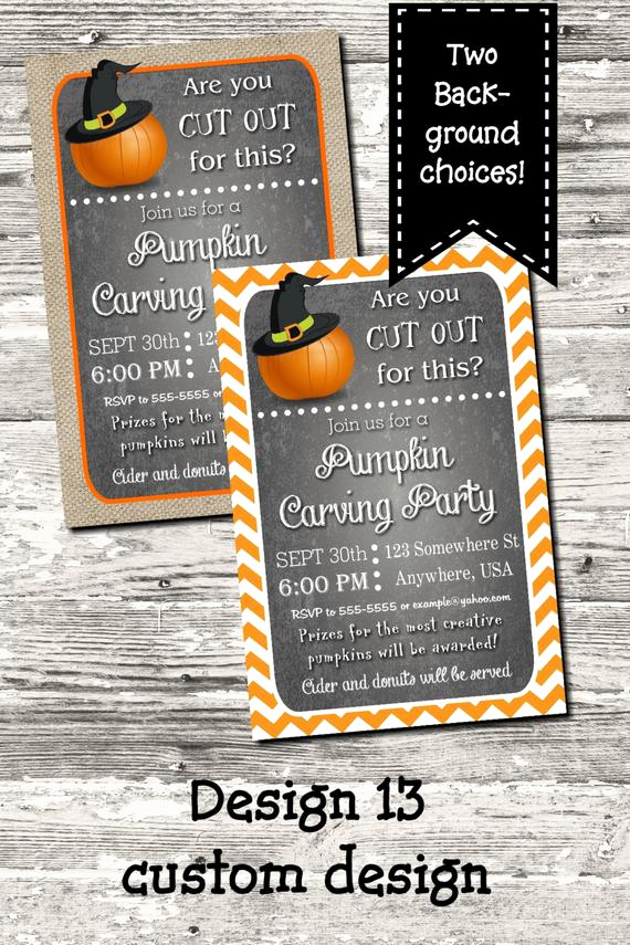 Pumpkin Carving Party Invitation Awesome Halloween Pumpkin Carving Party Invitation Digital