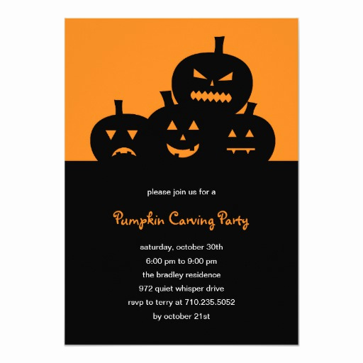 Pumpkin Carving Party Invitation Awesome Pumpkin Carving Halloween Party Invitation