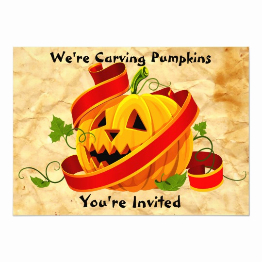 Pumpkin Carving Party Invitation Beautiful Halloween Pumpkin Carving Party Invitation