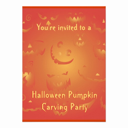 """Pumpkin Carving Party Invitation Best Of Pumpkin Carving Party Invitations 4 5"""" X 6 25"""" Invitation"""