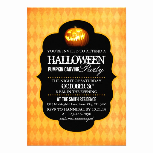 Pumpkin Carving Party Invitation Elegant 364 Halloween Pumpkin Carving Party Invitations
