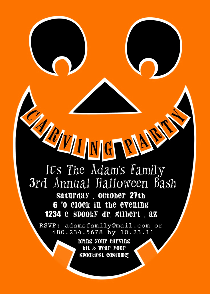 Pumpkin Carving Party Invitation Elegant Printable Party Invitation Pumpkin Carving Party