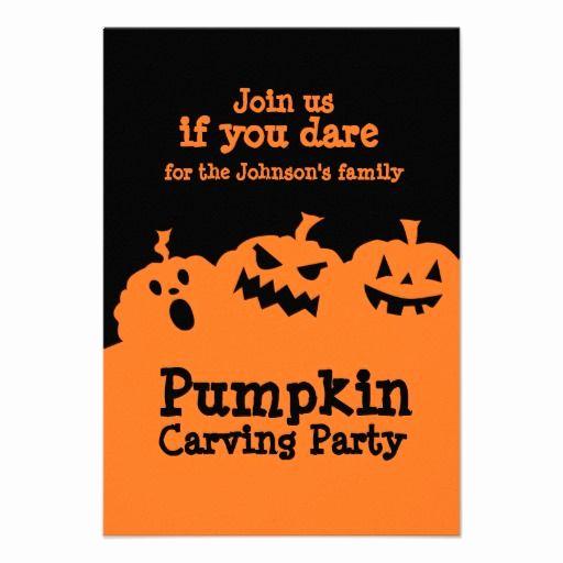 Pumpkin Carving Party Invitation Elegant Pumpkin Carving Party Invitation