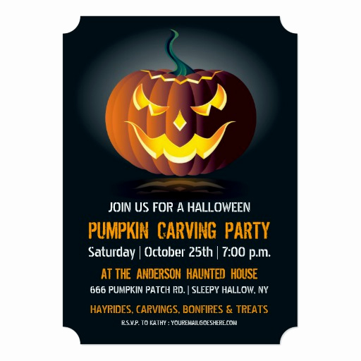 Pumpkin Carving Party Invitation Fresh Halloween Pumpkin Carving Party Invitation