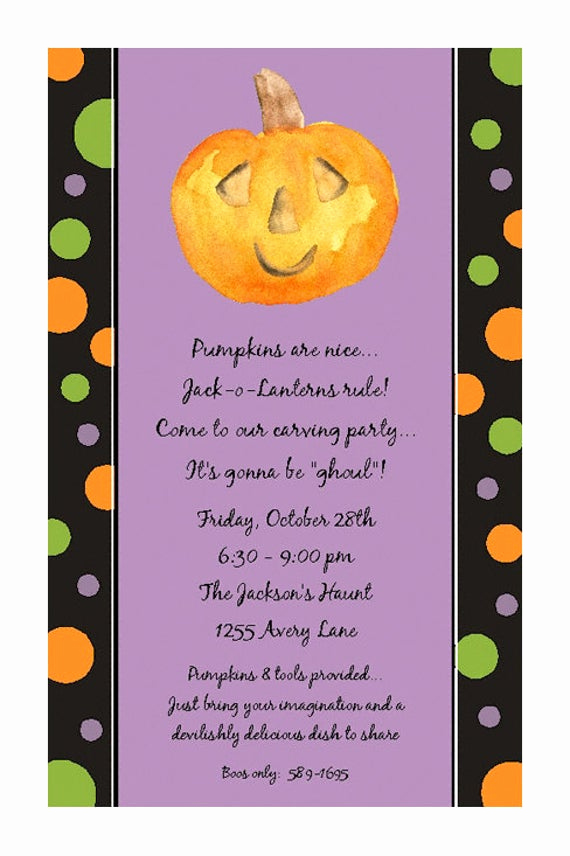 Pumpkin Carving Party Invitation Fresh Items Similar to Halloween Party Invitations Pumpkin