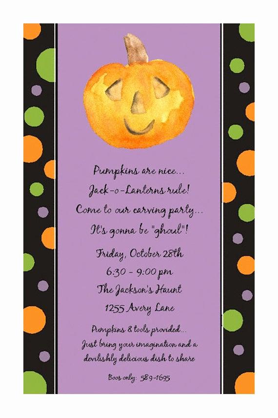 Pumpkin Carving Party Invitation Fresh Items Similar to Halloween Party Invitations Pumpkin