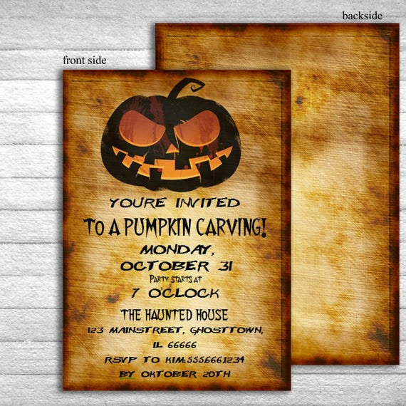 Pumpkin Carving Party Invitation Lovely Printable Halloween Invitation Pumpkin Carving Party