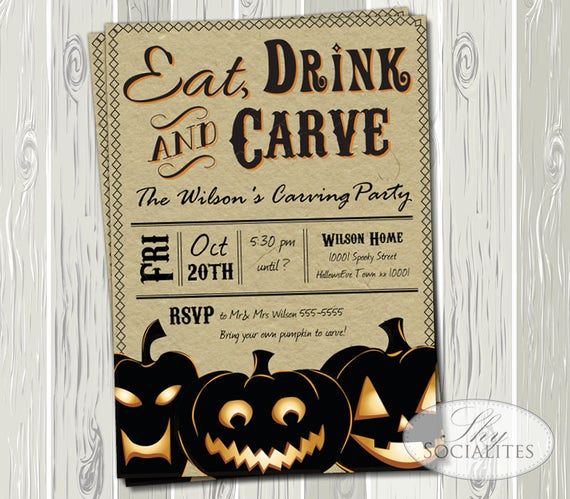 Pumpkin Carving Party Invitation Luxury Items Similar to Pumpkin Carving Party Invitation