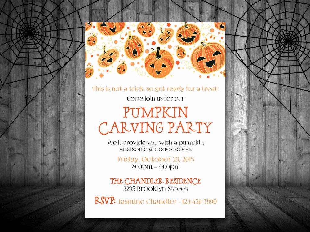 Pumpkin Carving Party Invitation New Pumpkin Carving Party Invitation Template Halloween Party