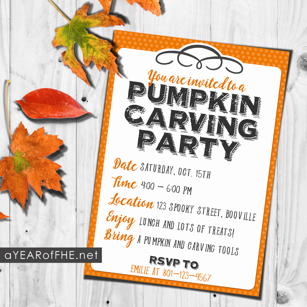Pumpkin Carving Party Invitation Unique How to Host A Pumpkin Carving Party A Free Printable