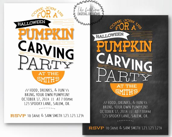 Pumpkin Carving Party Invitation Unique Items Similar to Pumpkin Carving Party Invitation