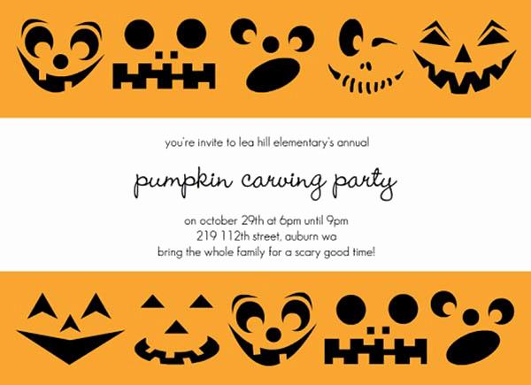 Pumpkin Carving Party Invitation Unique Spooktacular Halloween Pumpkin Invitations