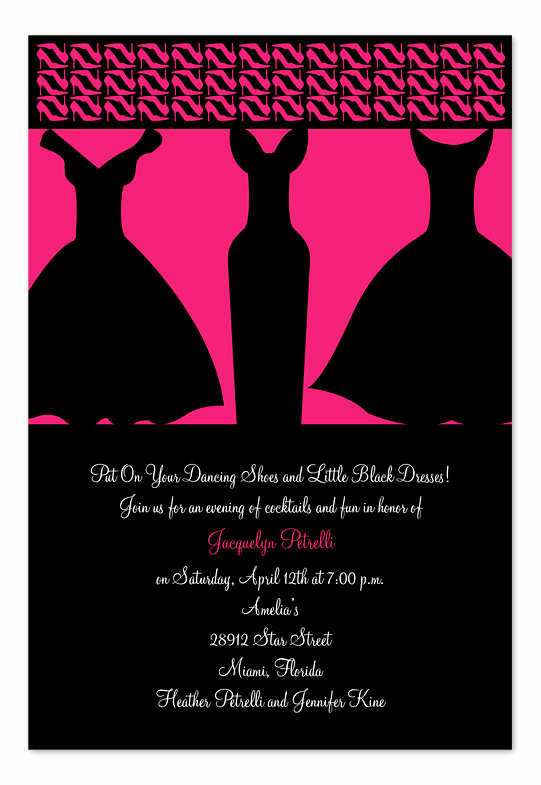 Pure Romance Party Invitation Wording Beautiful Little Black Dresses Birthday Invitations by Invitation
