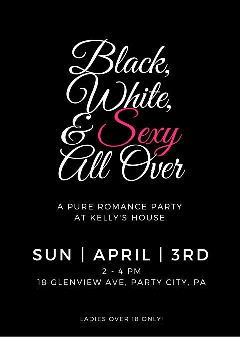 "Pure Romance Party Invitation Wording Best Of Friday Fun Black & White ""little Black Dress"" Pure"