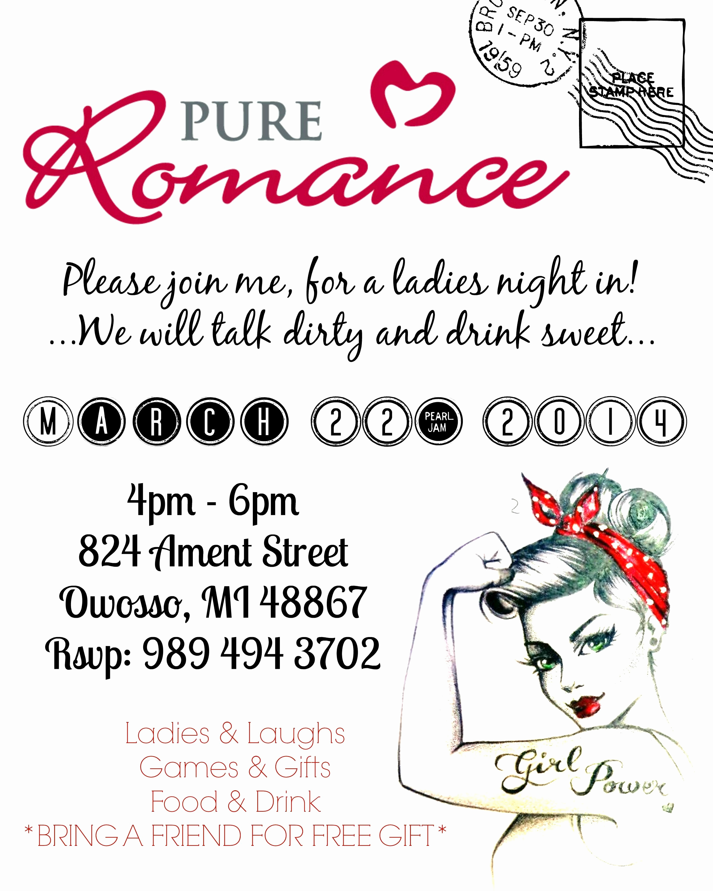 Pure Romance Party Invitation Wording Unique Ericka Good Pure Romance Party Invitation