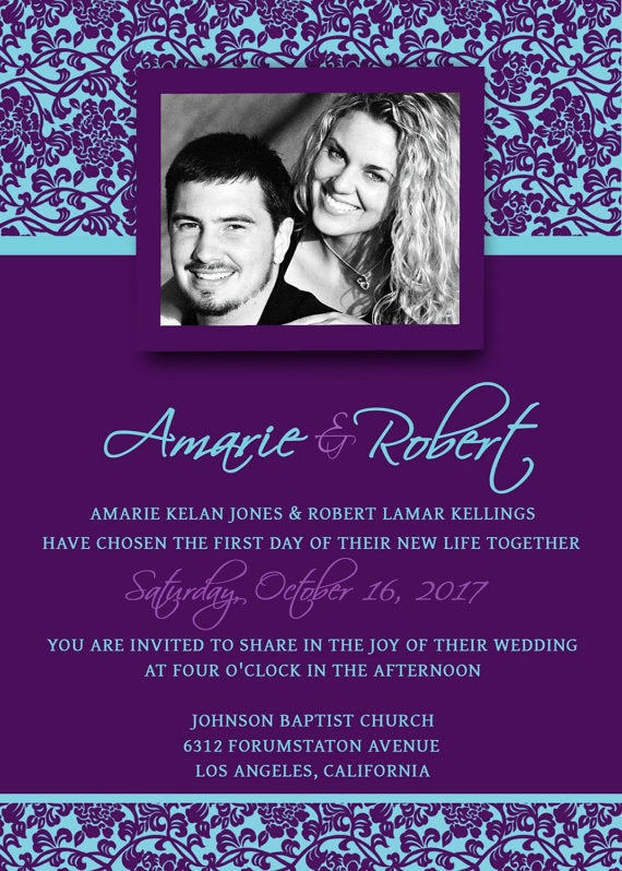 Purple Wedding Invitation Template Awesome Unavailable Listing On Etsy