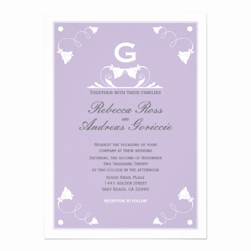 Purple Wedding Invitation Template Beautiful Elegant Pastel Purple Wedding Invitation Template 13 Cm X