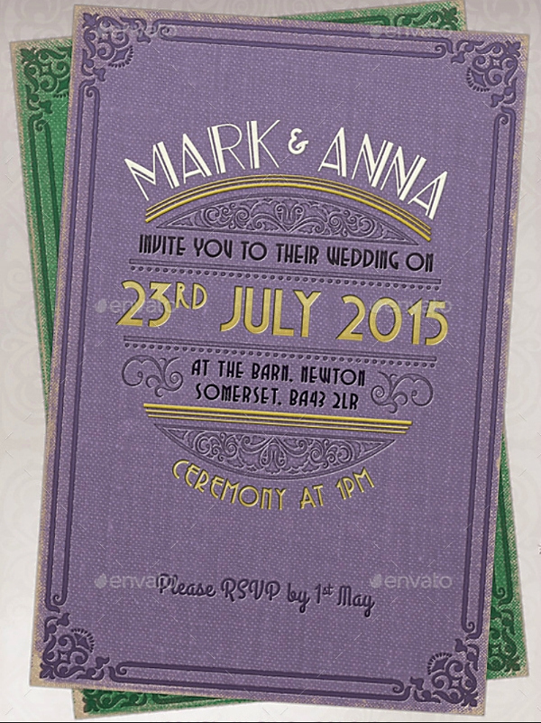Purple Wedding Invitation Template Best Of 16 Purple Invitation Templates Psd Ai