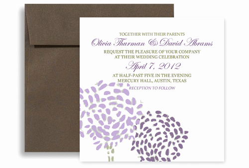 Purple Wedding Invitation Template Fresh Purple Green Modern Template Printable Wedding Invitation